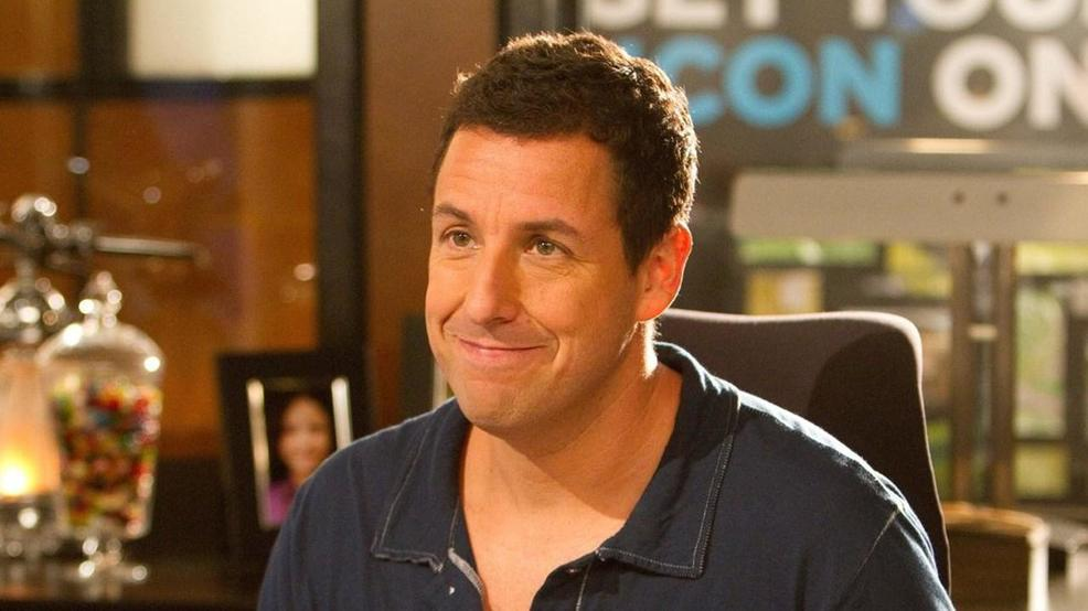 Adam Sandler shoots hoops with the Utah Jazz