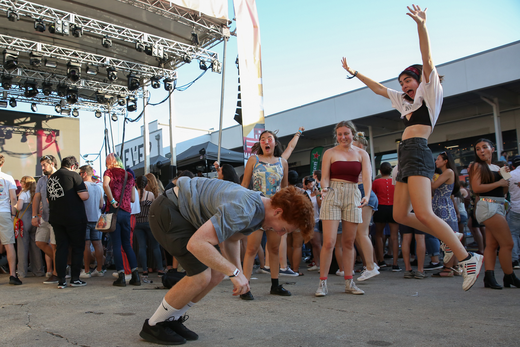 Hundreds of people came out to dance the weekend away at All Things Go Fall Classic, D.C.'s homegrown music festival. The two-day at Union Market event featured an all-female lineup on day one, but day two included acts like Betty Who, Carly Rae Jepsen and Misterwives. Guests also got to nosh on local food and{ } participate in art projects. (Amanda Andrade-Rhoades/DC Refined)