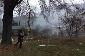 Plane crashes into house in Gaithersburg, Md. (Photo: Peter Piringer)