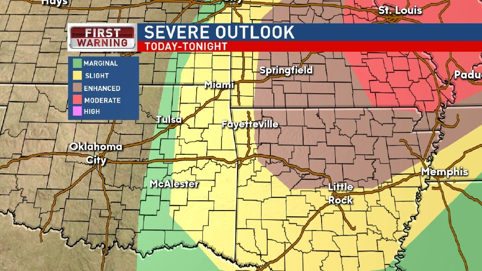 WEATHER ALERT: Isolated severe storms possible Tuesday afternoon and night