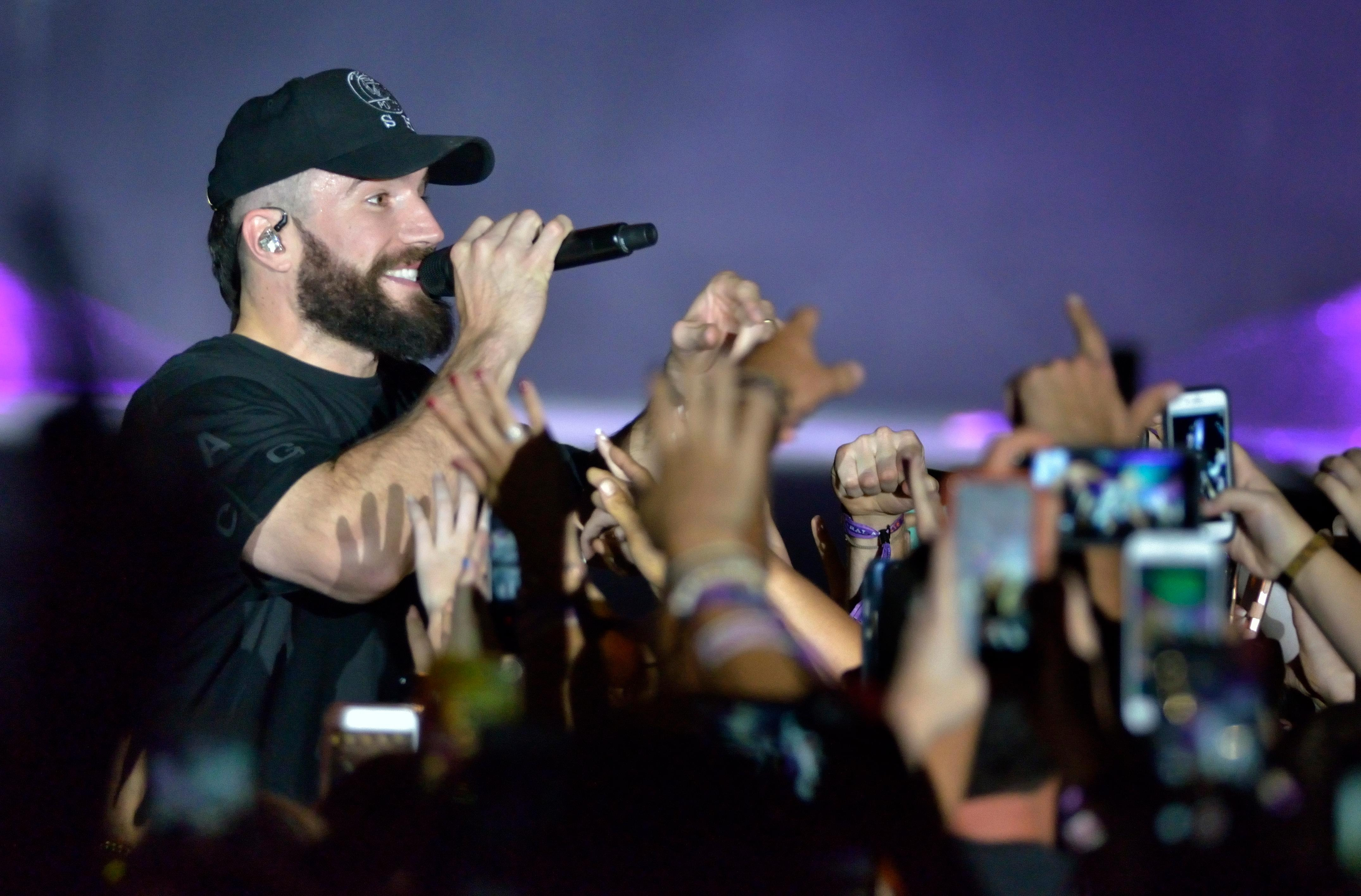 Sam Hunt performs during the Route 91 Harvest festival on Las Vegas Boulevard South in Las Vegas on Saturday, Sept. 30, 2017.  [Bill Hughes/Las Vegas News Bureau]