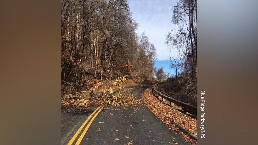 crews work to clear damage along blue ridge parkway after wintry