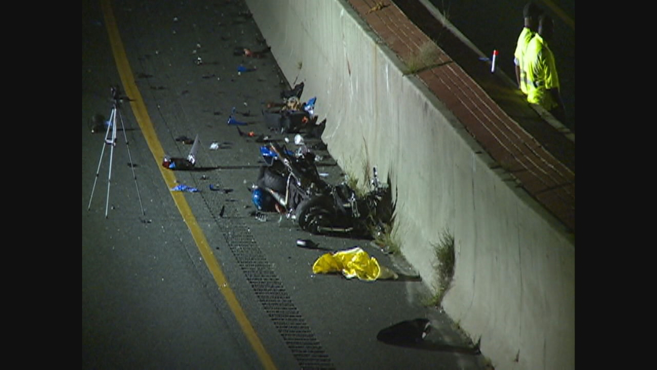 Two dead after SUV going wrong way hits motorcycle on Route 50 in Anne Arundel County. (WJLA)