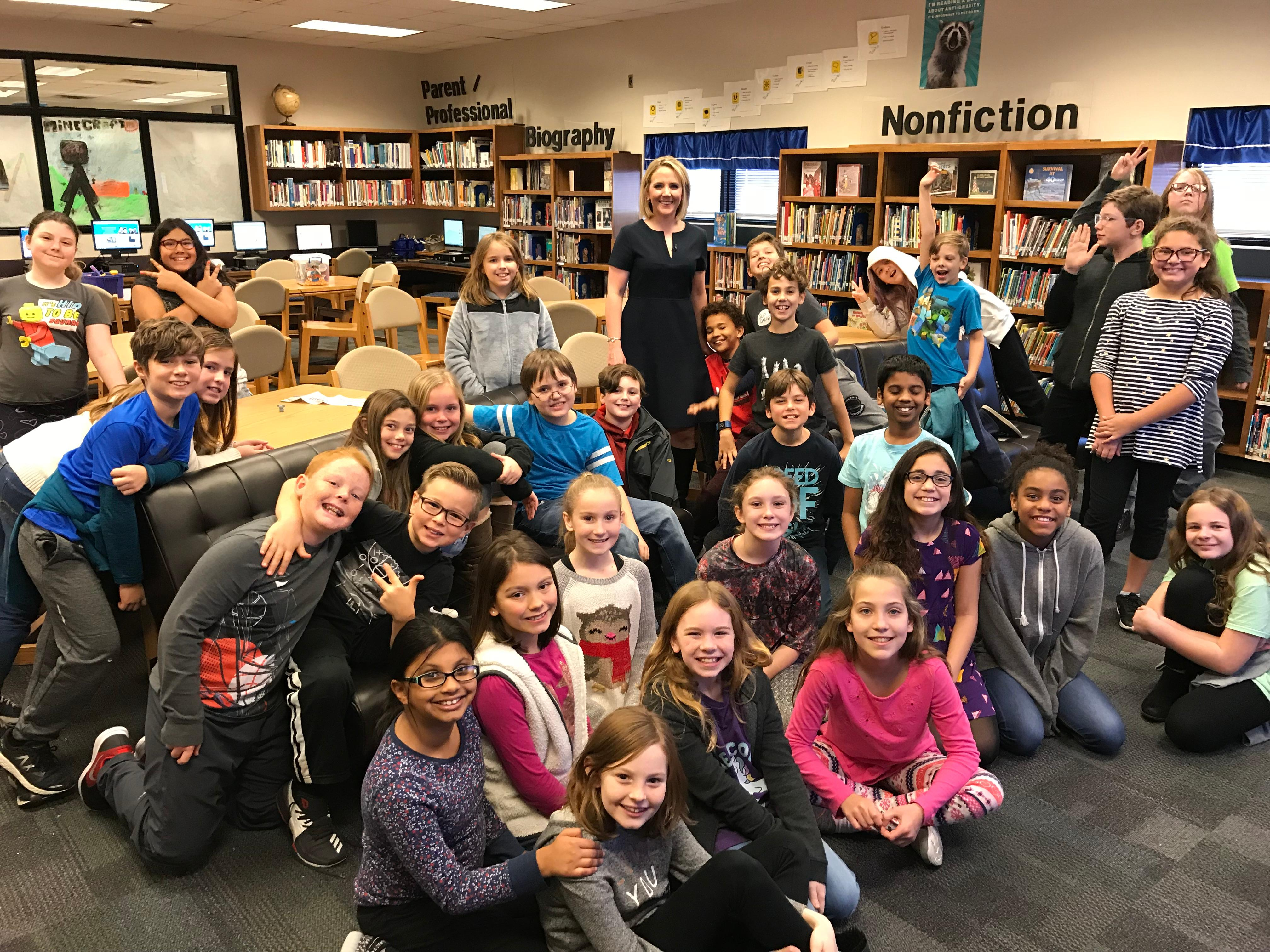The 4th and 5th{&amp;nbsp;} graders at Lincoln Elementary in Norman on Our December 12, 2017 visit!<p></p>