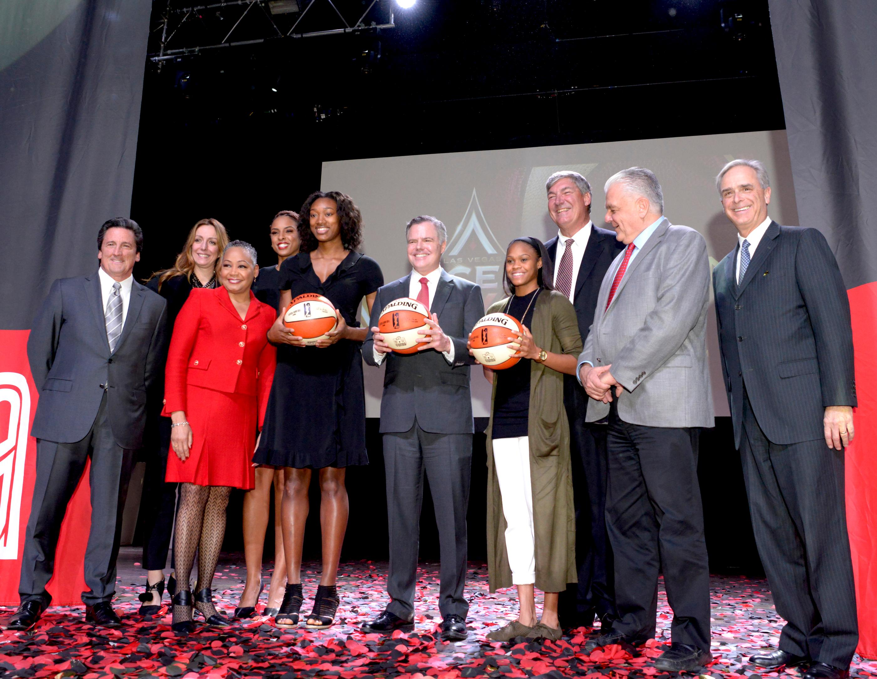 Las Vegas' newest professional sports franchise, the WNBA Las Vegas Aces is announced at a press conference in Mandalay Bay. Monday, December 11, 2017. CREDIT: Glenn Pinkerton/Las Vegas News Bureau