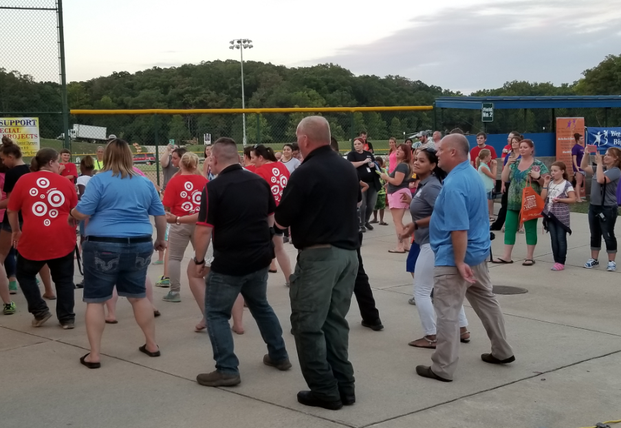 National Night Out with local Lake area law enforcement. (Lake Ozark PD)