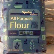 5 pound Signature Kitchens All Purpose Flour Enriched Bleached Package UPC 000-21130-53001 Recalled Better if Used by Dates BB MAY 28 2017 (Courtesy: General Mills)