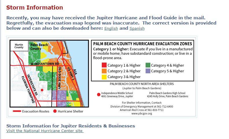 Jupiter Sends Incorrect Evacuation Information In Mail Wpec