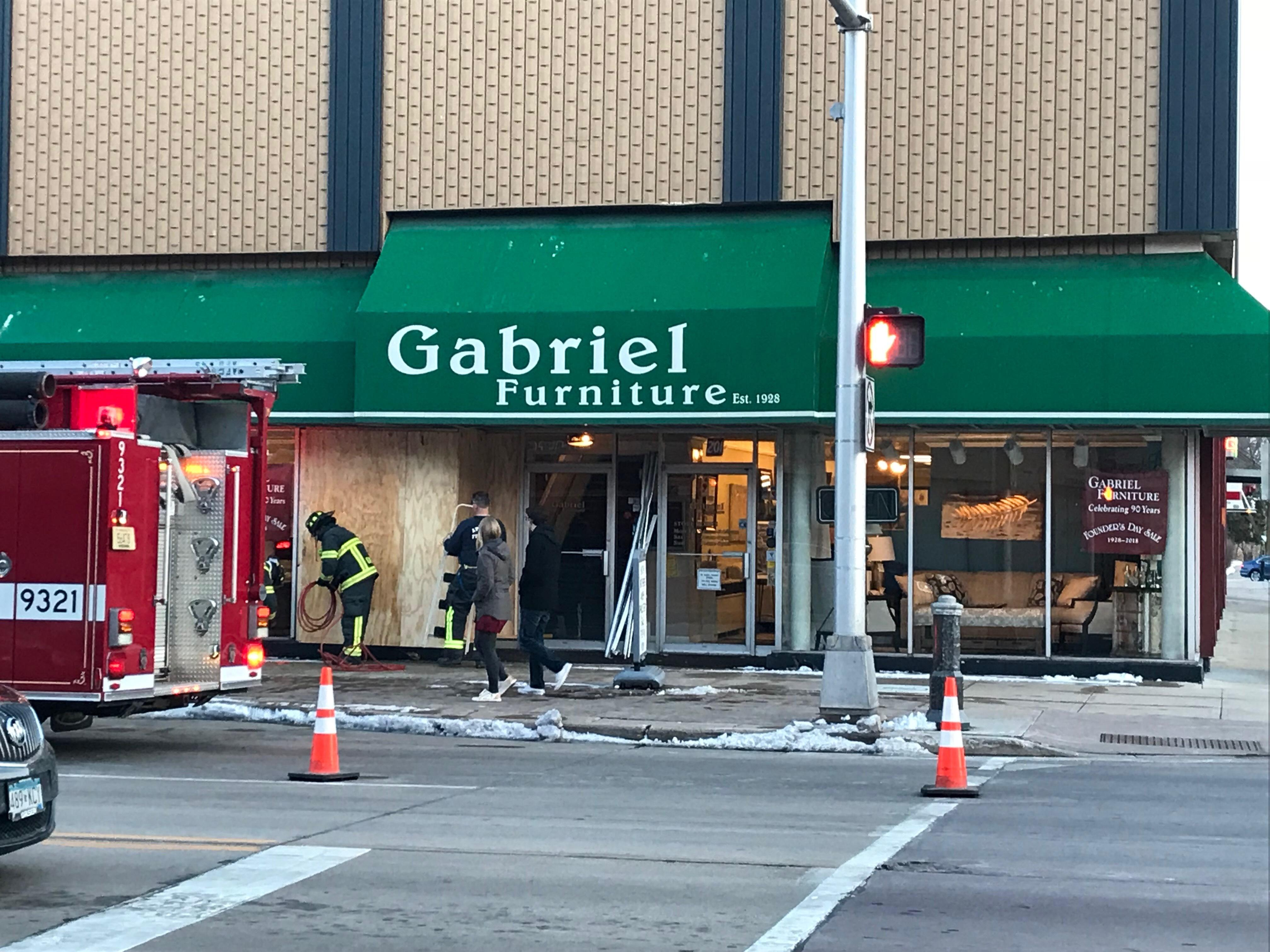 A Car Crashed Into A Downtown Appleton Furniture Store On April 5, 2018. (