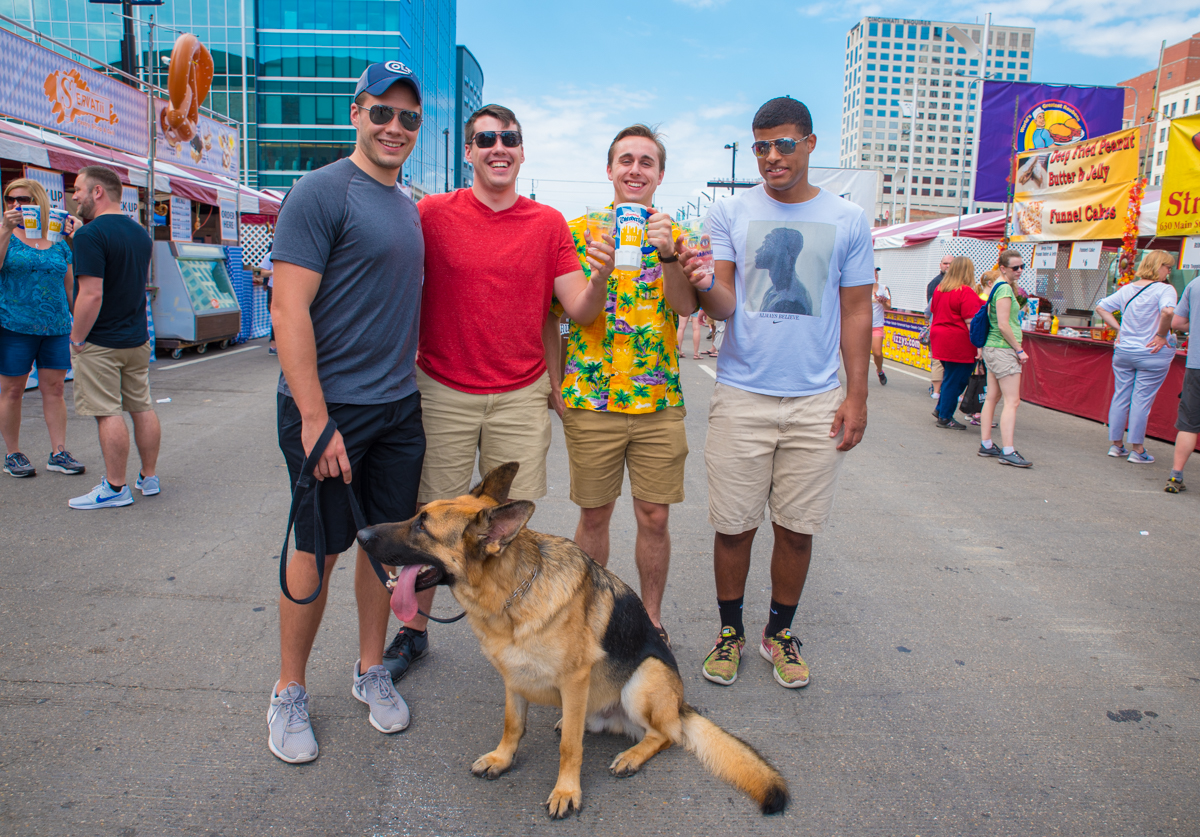Josh Gordon, Jamison Gordon, Martin Czerwiec, Brandon Abbott, and Jeff the dog  / Image: Sherry Lachelle Photography