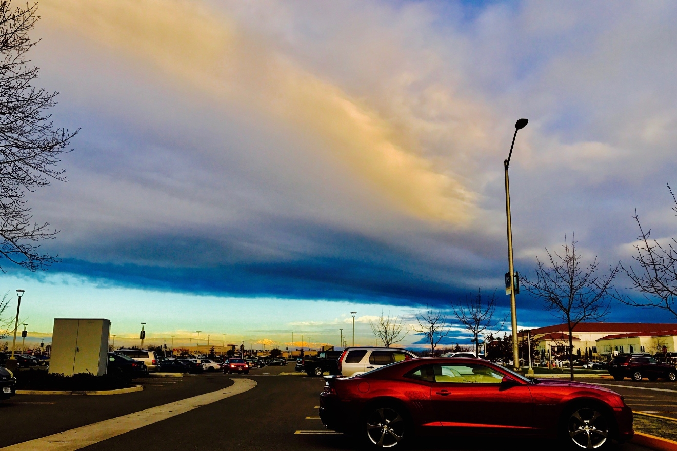 Great clouds shot from Fresno State by Traci Obata 2-16-17
