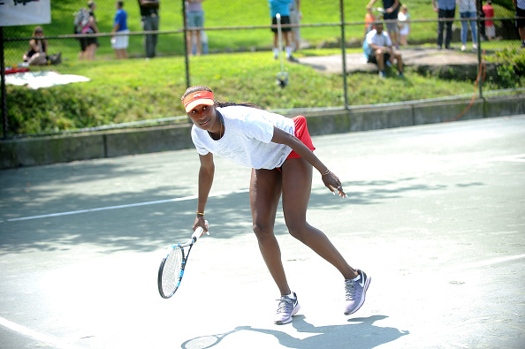 NEW YORK, NY - AUGUST 27:  Asia Muhammad attends the LACOSTE And City Parks Foundation Host Tennis Clinic In Central Park on August 27, 2017 in New York City.  (Photo by Brad Barket/Getty Images for LACOSTE)