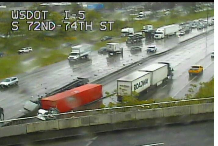 Tacoma crash impacting NB & SB I-5.  (Photo: WSDOT)
