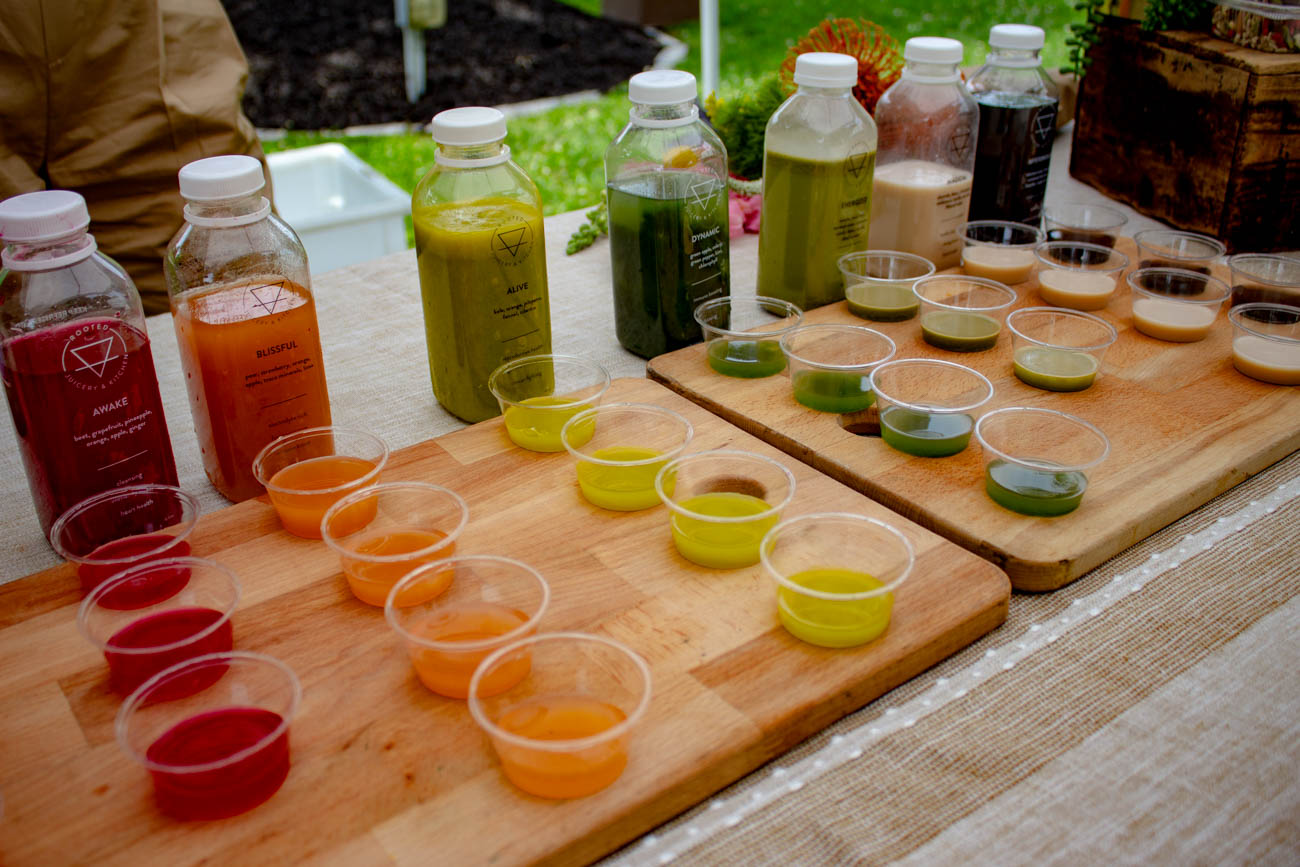 Juices from Rooted Juicery and Kitchen{ }/ Image: Katie Robinson, Cincinnati Refined // Published: 6.24.19
