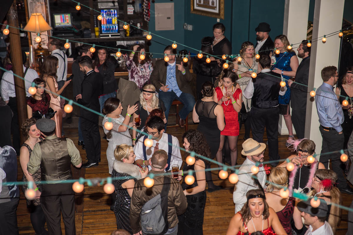 The 2018 Cincy Prohibition Party was held on Saturday, February 10 at The Woodward Theater in Over-the-Rhine. The night included entertainment by The Cincy Brass. / Image: Sherry Lachelle Photography // Published: 2.11.18