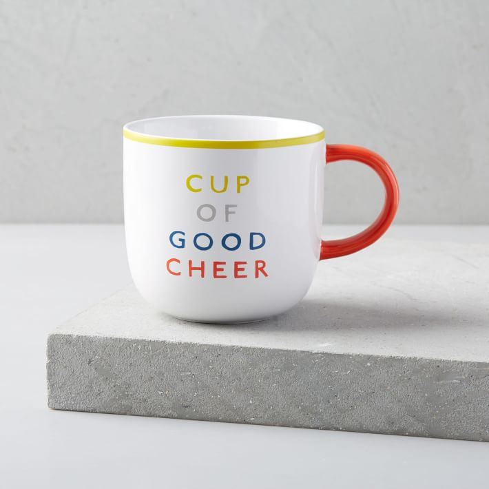 West Elm's mug of good cheer is perfect for everyone from the Grinch in your life to the office mate who sings carols all year round. Place a coffee gift card inside for a gift any coffee lover will truly enjoy! (Image: West Elm)