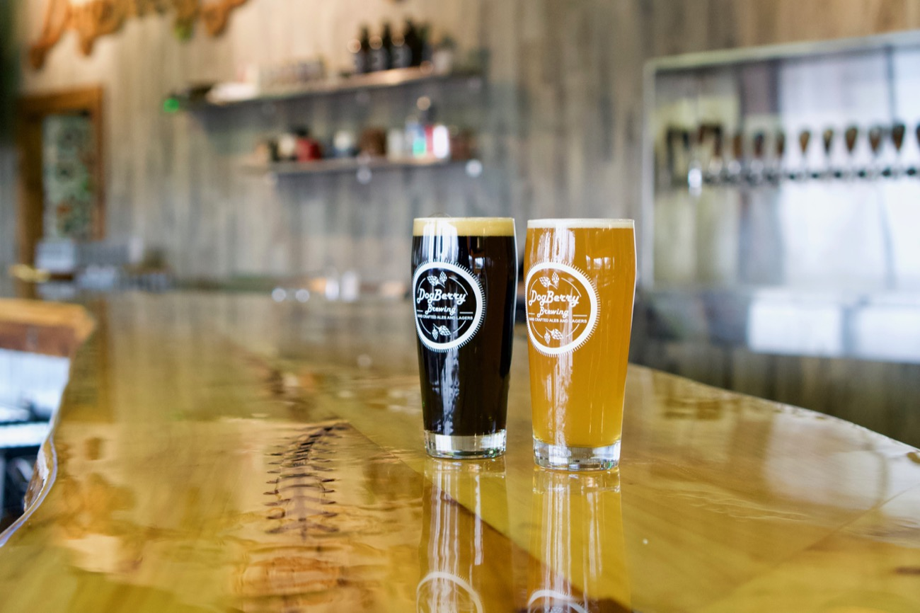 DogBerry crafts a circulating variety of ales and lagers, including around 17 on tap at any given time. A panel of food trucks also make their rounds at the brewery for patrons to enjoy. / Image: Brian Planalp // Published: 1.7.19