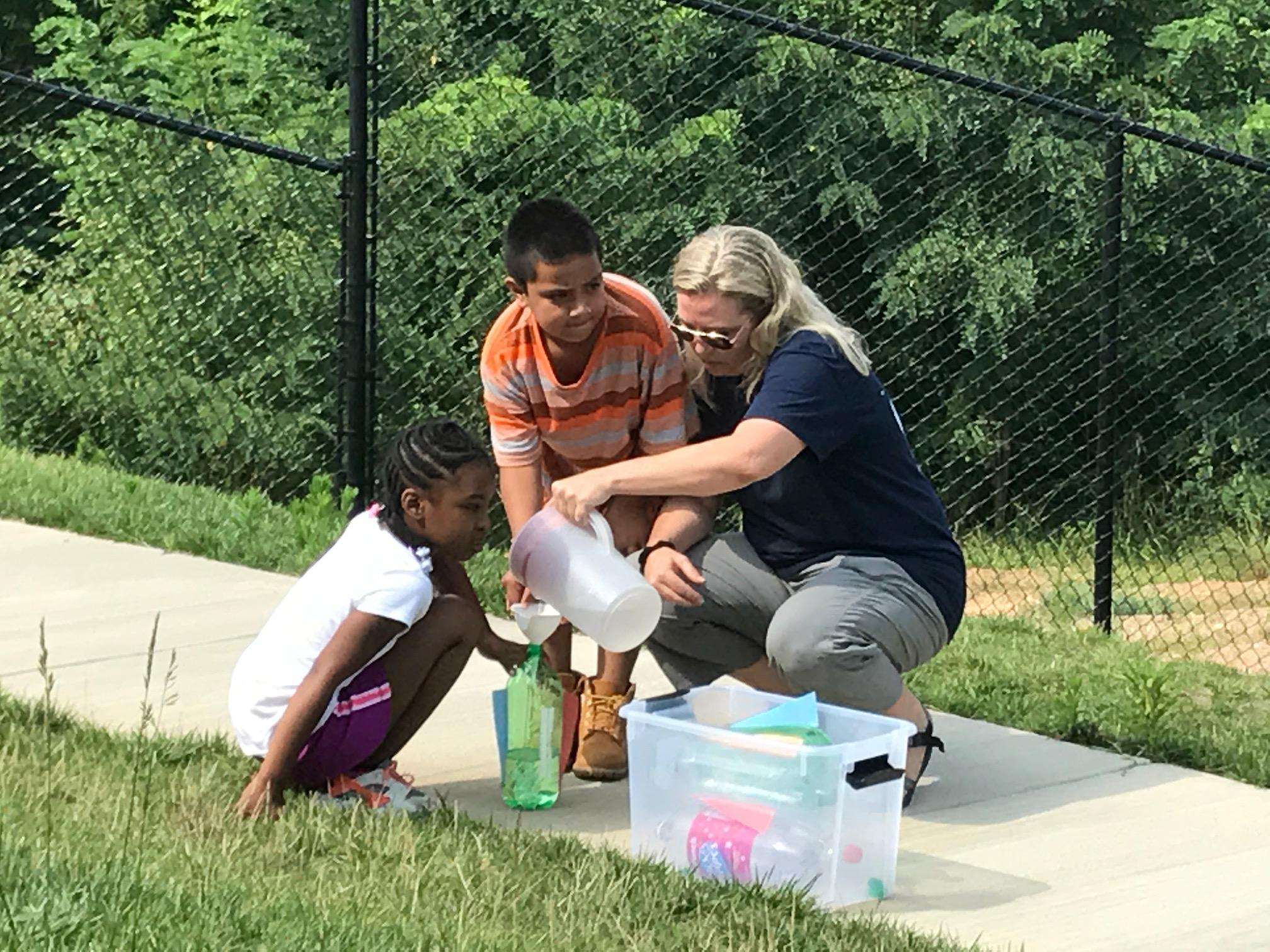 Students participate in an Asheville City Schools summer reading program, with a focus on science. (Photo credit: WLOS Staff)