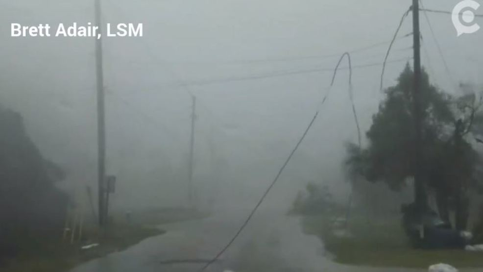 Watch: Storm chasers abandon truck at peak of hurricane as storm surge races ashore
