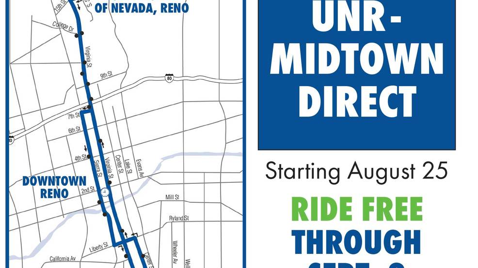 RTC launches temporary transit route to connect Midtown to UNR