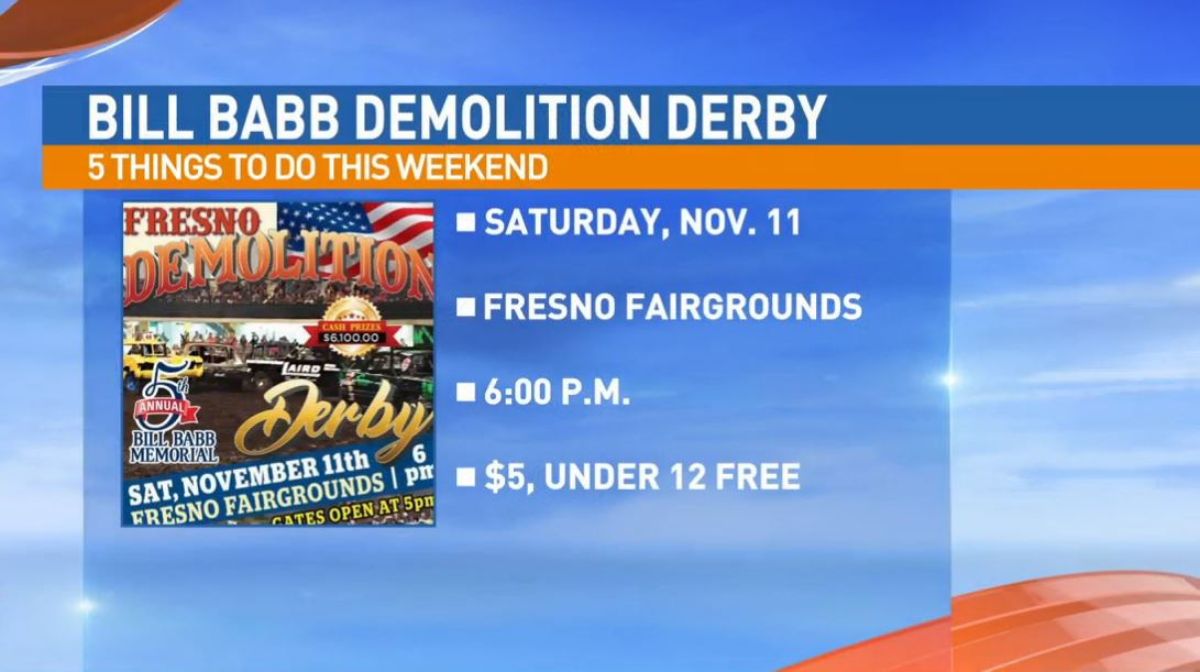 Bill Babb Demolition Derby Saturday at the Fresno Fairgrounds