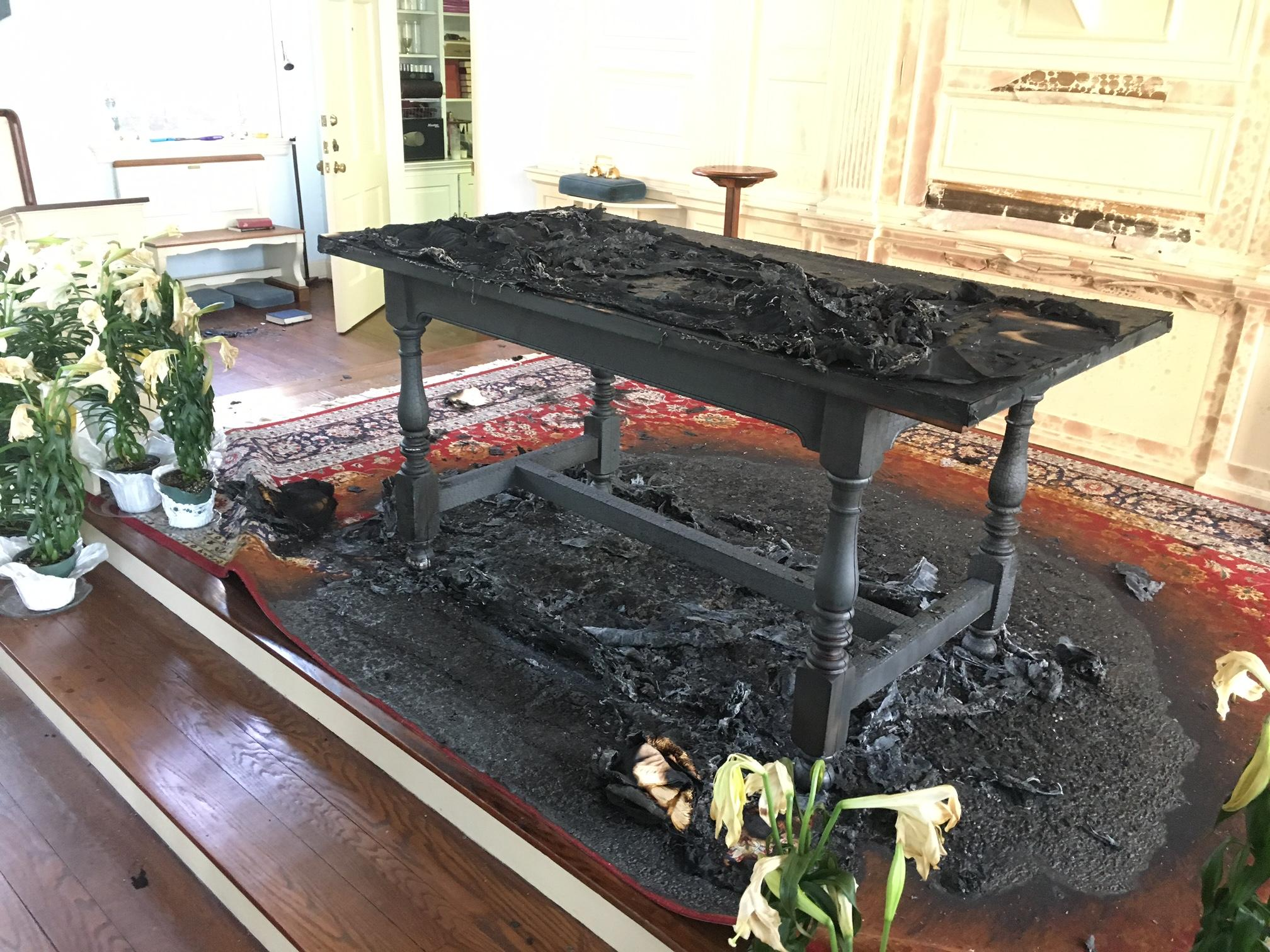 Huntington Police say a 12-year-old girl has been charged with arson after an altar was burned Monday evening at St. John's Episcopal Church. (WCHS/WVAH)