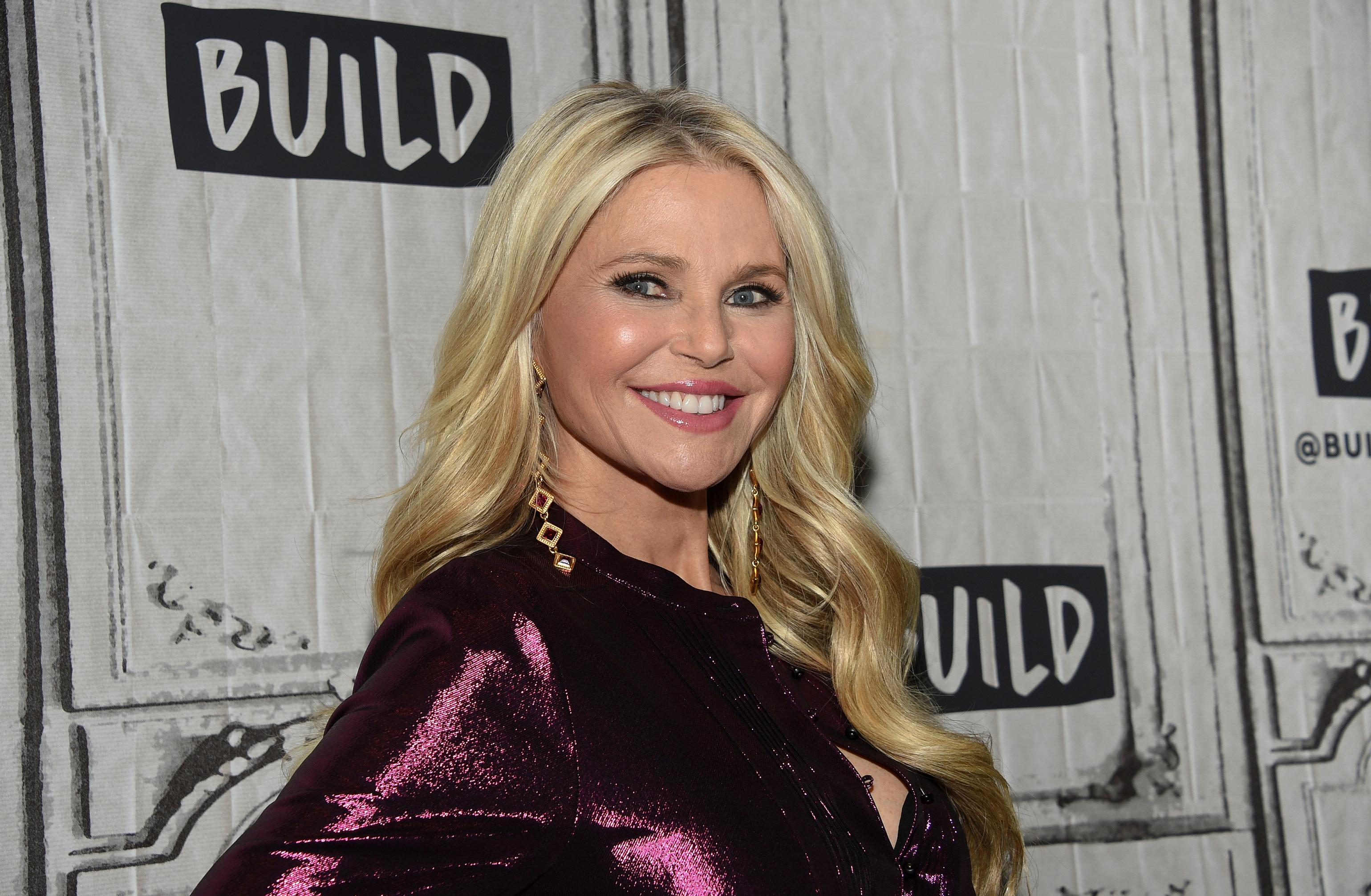 "FILE - In this Jan. 29, 2019, file photo, model Christie Brinkley participates in the BUILD Speaker Series to discuss the ""Milestones of Me"" campaign at AOL Studios in New York. Hannah Brown of ""The Bachelorette,'' Brinkley, and former White House press secretary Sean Spicer are among the contestants on the next season of ''Dancing with the Stars.'' ABC announced the celebrity lineup Wednesday, Aug. 21, 2019, on ""Good Morning America.'' (Photo by Evan Agostini/Invision/AP, File)"