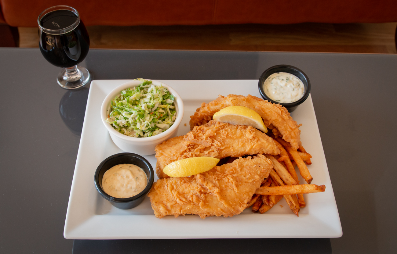 Fish & Chips: two fresh haddock fillets battered in Dead Low beer and served with tartar sauce and remoulade / Image: Elizabeth Lowry // Published:{ }11.5.19