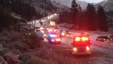 1 lane reopened after big rig overturns on WB I-80 near CA-NV state line