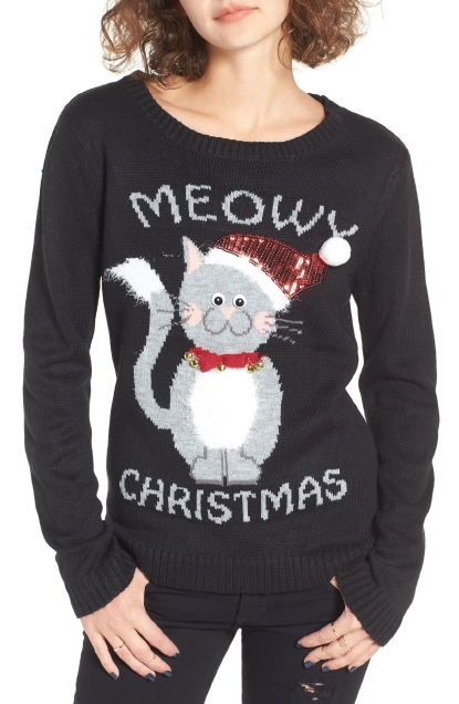 love by design meowy christmas sweater 39photo nordstrom - Nordstrom Christmas Sweaters