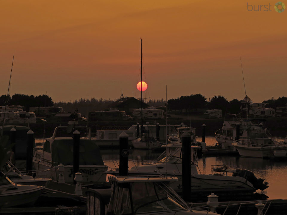 Debbie Tegtmeier shared this photo of a smoky Sunday moon as seen from Winchester Bay, Oregon, via BURST.com/KVAL