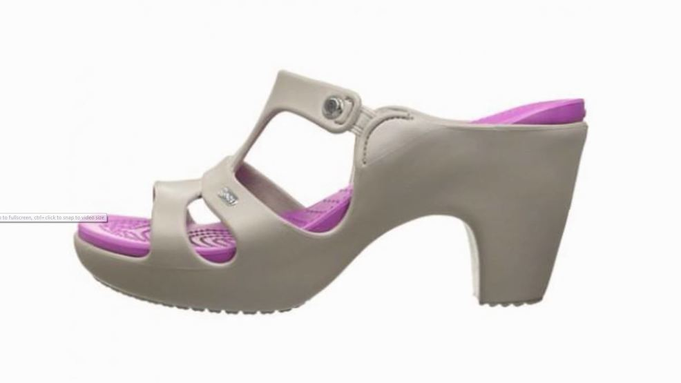 8db1481a4625 High heel crocs shoes are selling out prompting questions of kfox JPG  986x555 Lilac high heel